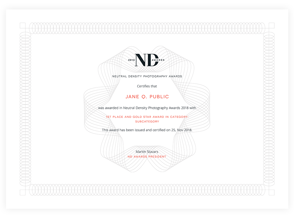 ND Award certificate