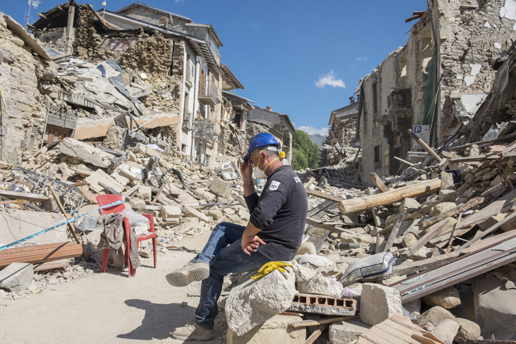 Amatrice: first day of relief.