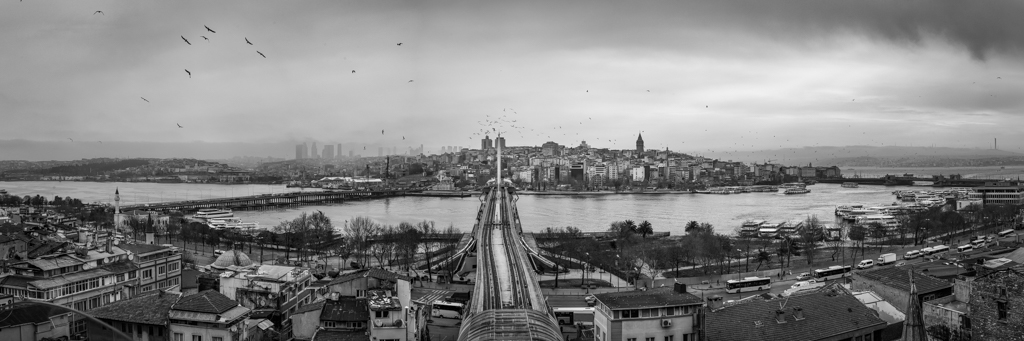 Hajic Metro Bridge and Golden Horn, Istanbul
