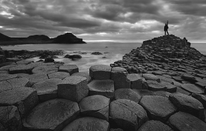 Self portrait at Giants Causeway