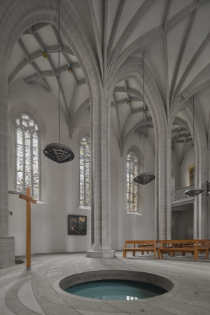 The baptistery of Martin Luther in Germany.