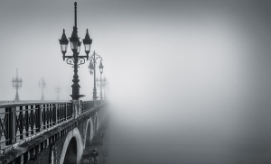 Bridge under fog