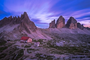 Blue hour in the Dolomites