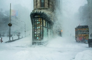 Flatiron Building and the Snowstorm