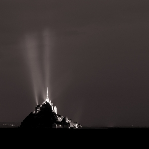 Le Mont St. Michel-night