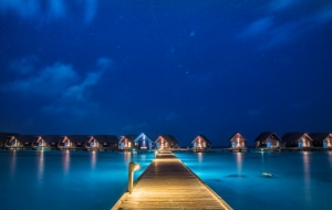 Maldives stilt houses