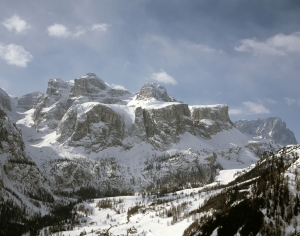 Winter in the Dolomites of Northern Italy