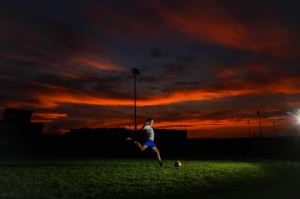 Nebraska Sunset Meets Soccer