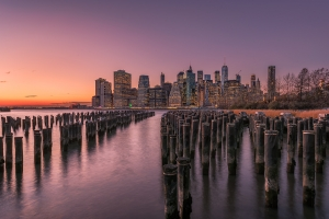 Manhattan from Brooklyn Bridge Park - Sunset