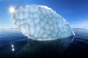 Iceberg Under The Light Of The Midnight Sun – Greenland