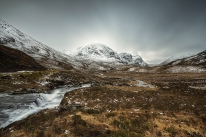 Winter mood of Scottish hills