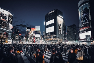 Shibuya Crossing Rush Hour
