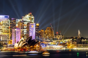 Lights on over Sydney