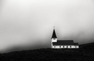 Vik Church in the Mist