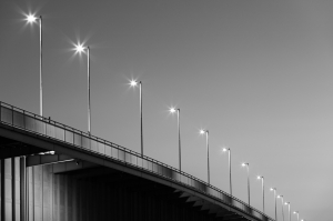 Lights on the bridge