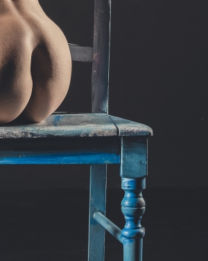 Blue chair figure study #4