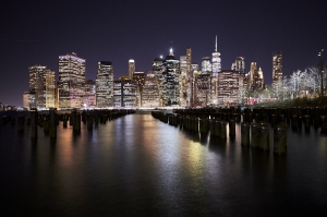 Brooklyn Old Pier One: Night Cityscape